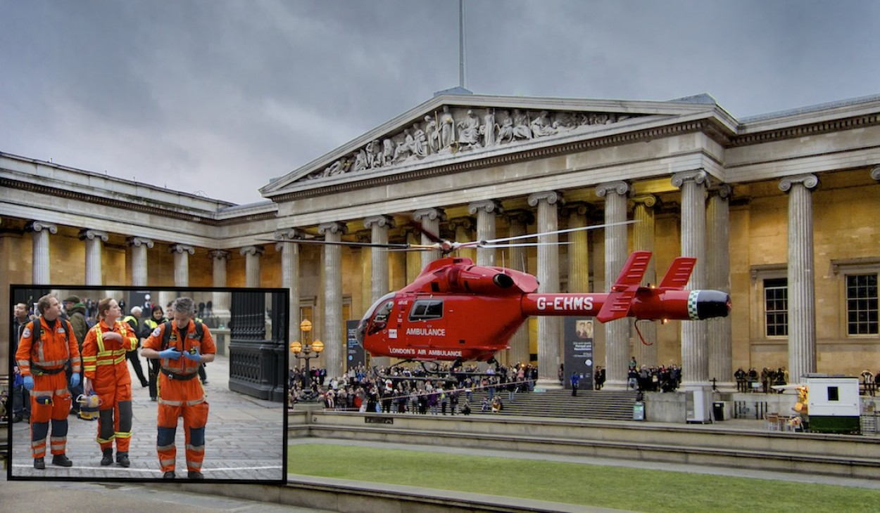London Air Ambulance at British Museum
