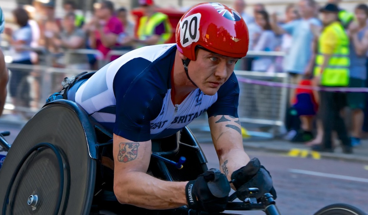 David Weir on his way to winning Gold