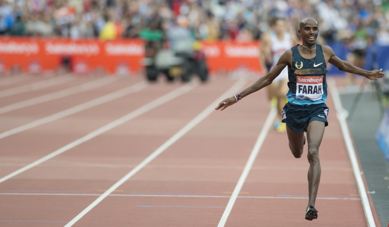 Mo Farah in action.