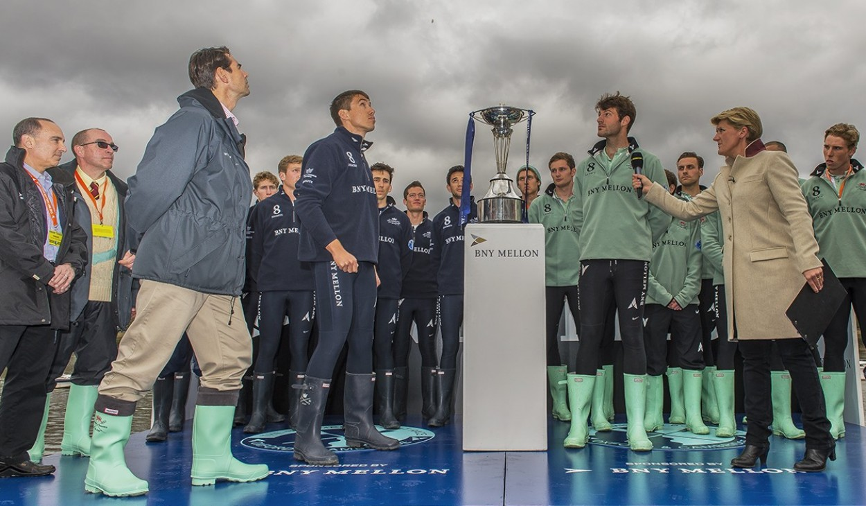 The 160th Boat Race toss 2014