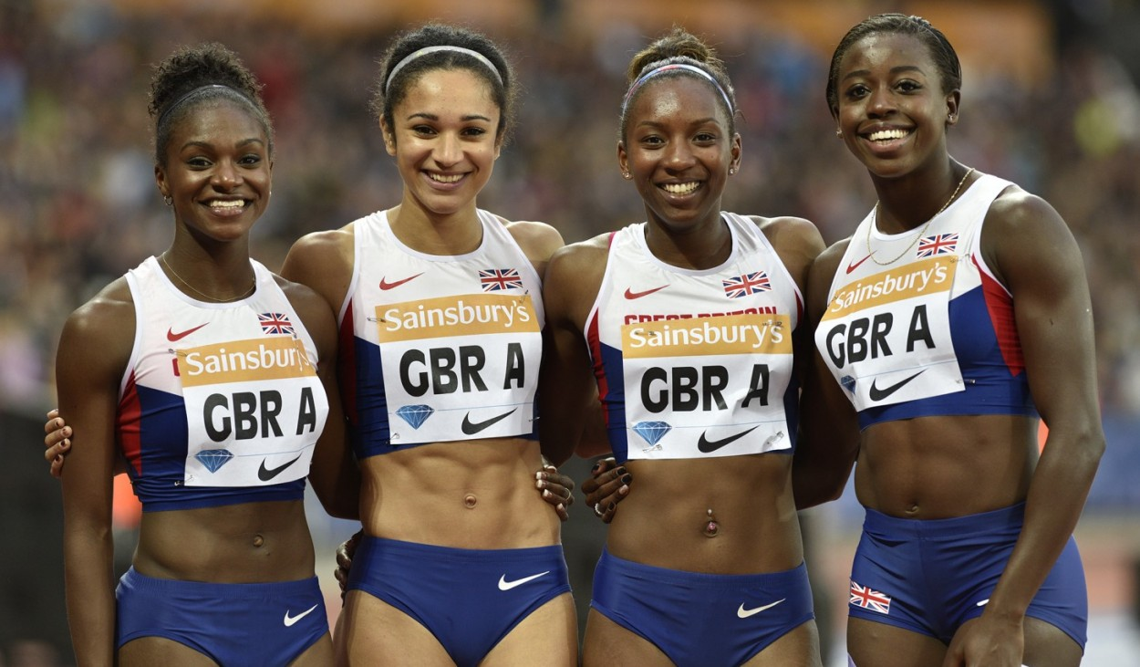 2015 GBR Women's 4 x100 relay team